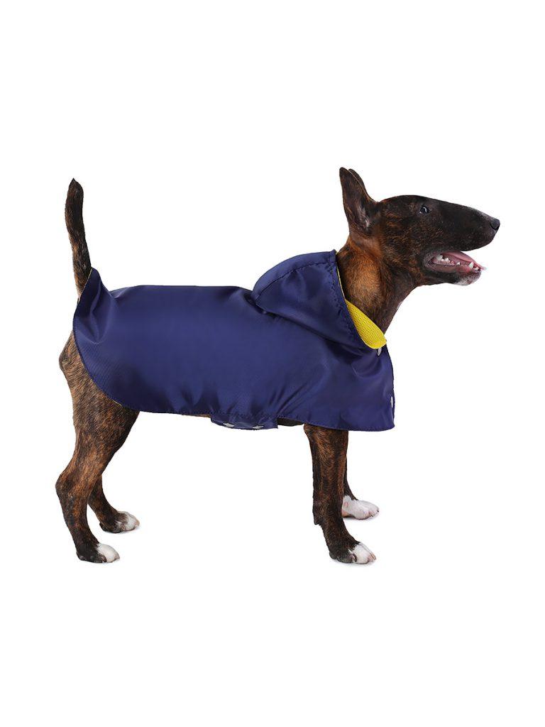 Дождевик для собак Монморанси Стиль, унисекс, темно-синий, L, длина спины 30 см фото
