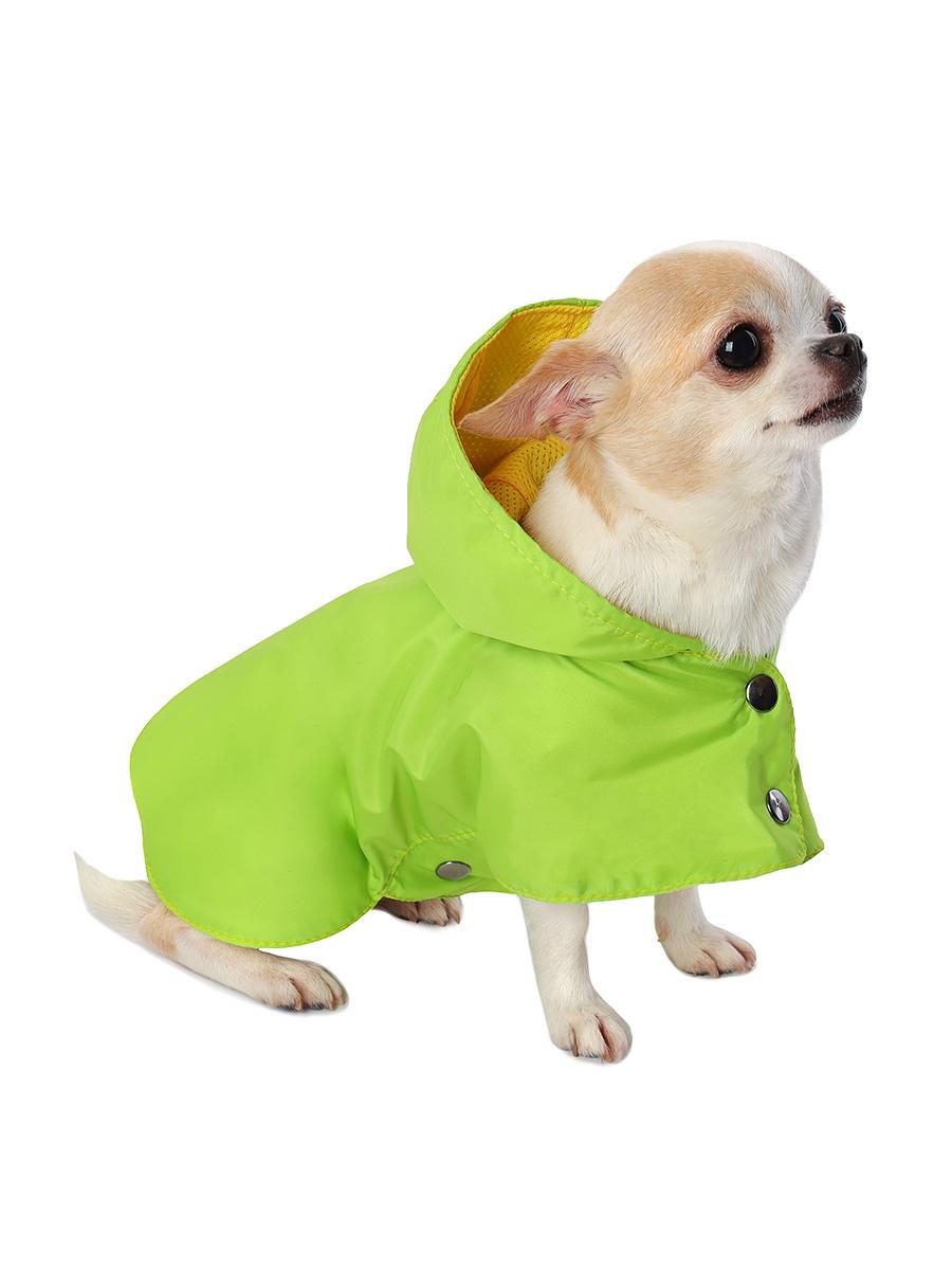 Дождевик для собак Монморанси Стиль, унисекс, зеленый, S, длина спины 22 см фото