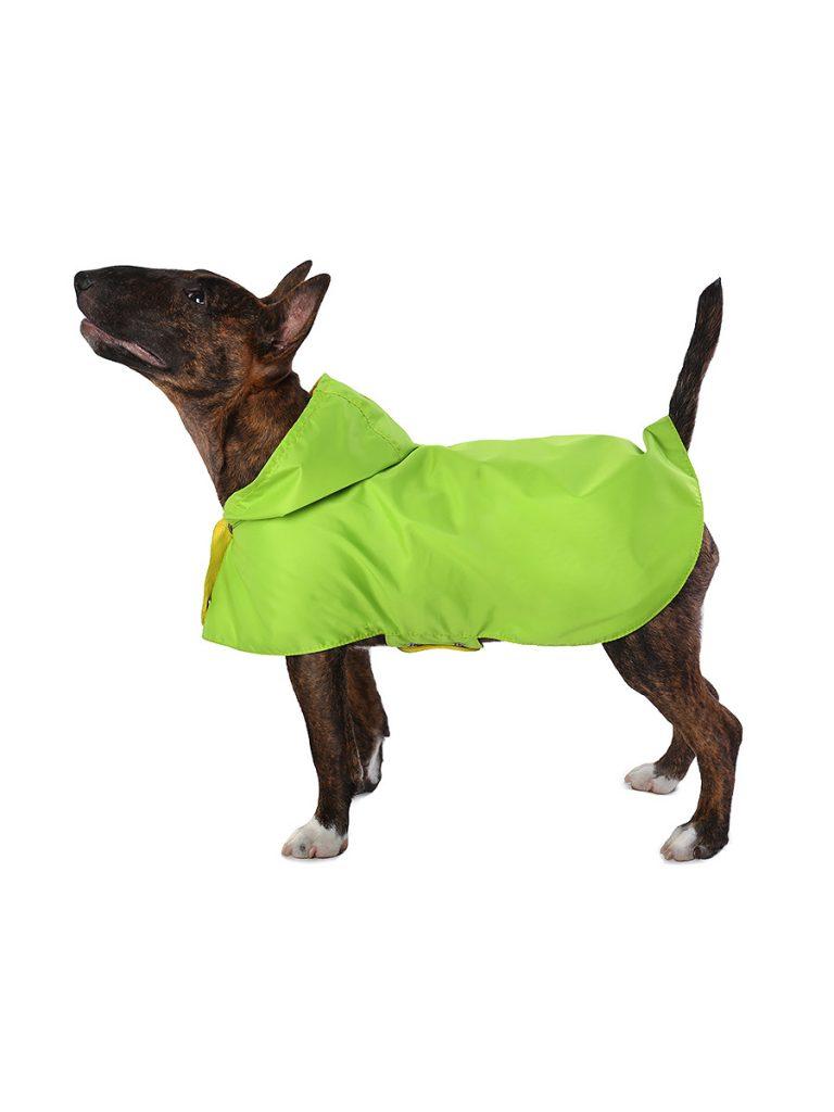 Дождевик для собак Монморанси Стиль, унисекс, унисекс, зеленый, М, длина спины 26 см фото