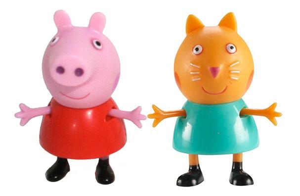 Фигурки Peppa Pig 28818 Свинка Пеппа и Кенди, Игровые наборы  - купить со скидкой