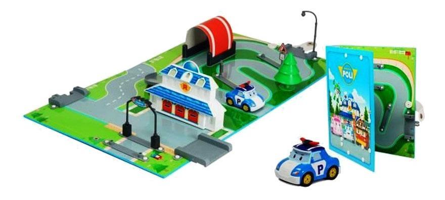 Купить Набор «город» штабквартира ( металлическая машинка поли в комплекте), Robocar Poli, Игровые наборы