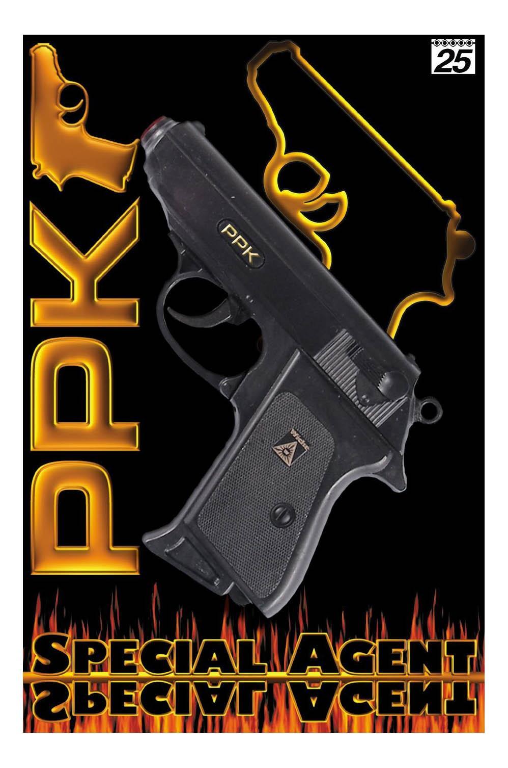 Купить Пистолет Специальный агент PPK 25-зарядный, 158 мм, Sohni-Wicke, Игрушечные пистолеты