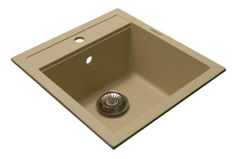 Мойка для кухни гранитная LAVA Q1.CAM песочный