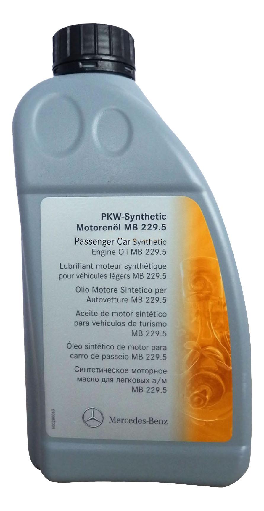 Моторное масло Mercedes-Benz 229,5 SAE 5W-40 1л