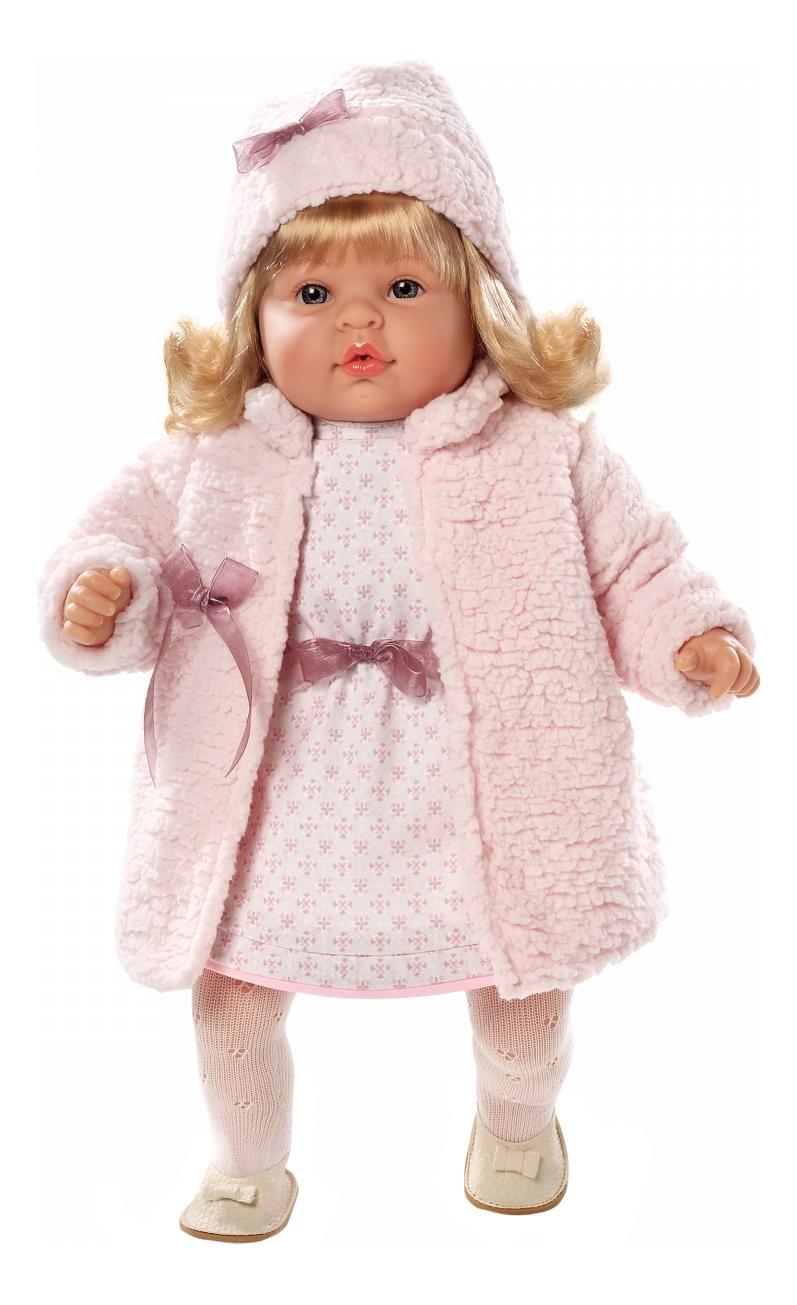Кукла Arias в платье и шубке, 50 см