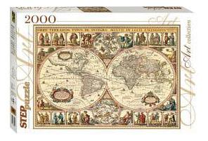 Пазл Step Puzzle Историческая карта мира 2000 деталей