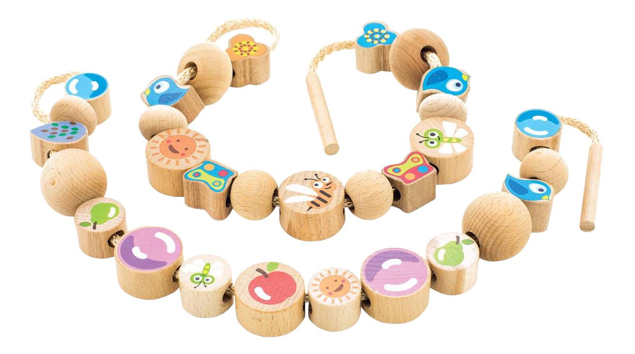 Развивающая игрушка Игрушки из дерева Бусы Ассорти Д416.