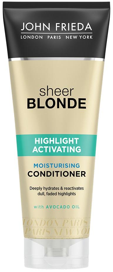 Купить Кондиционер для волос John Freida Sheer Blonde Highlight Moisture 250 мл, увлажняющий активирующий кондиционер для оттенков светлый блондин 250 мл, John Frieda