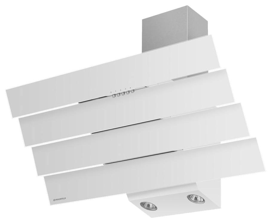 Вытяжка наклонная MAUNFELD Cascada Quart 90 White