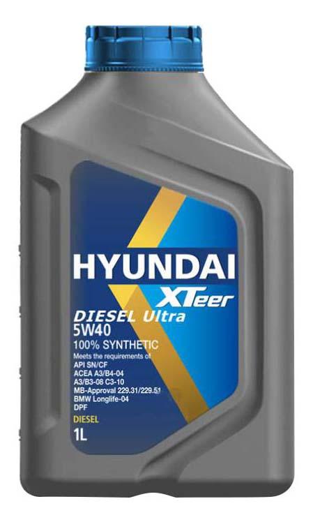 Моторное масло Hyundai-KIA Diesel Ultra 5W-40 1л