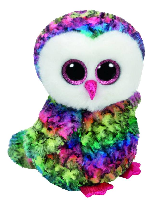 Мягкая игрушка TY Разноцветный совенок Owen Beanie Boos 33 см