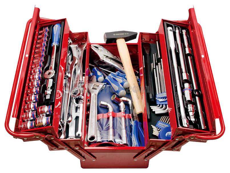 Набор столярно-слесарного инструмента KING TONY 902-103MR универсальный раскладной ящик 103 предмета 902-103MR