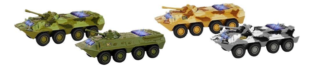 Купить Машинка Play Smart Инерционная танк бтр 80 свет звук 1:54 6549, PLAYSMART, Военный транспорт