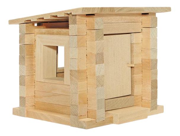 Конструктор деревянный ПЕЛСИ Избушка малышка