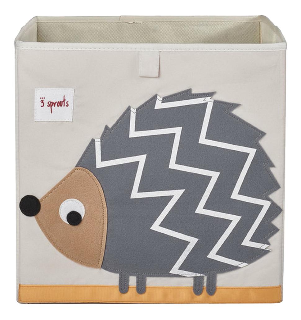 Купить Ящик для игрушек Серый ежик, 3 sprouts, Ящики для хранения игрушек