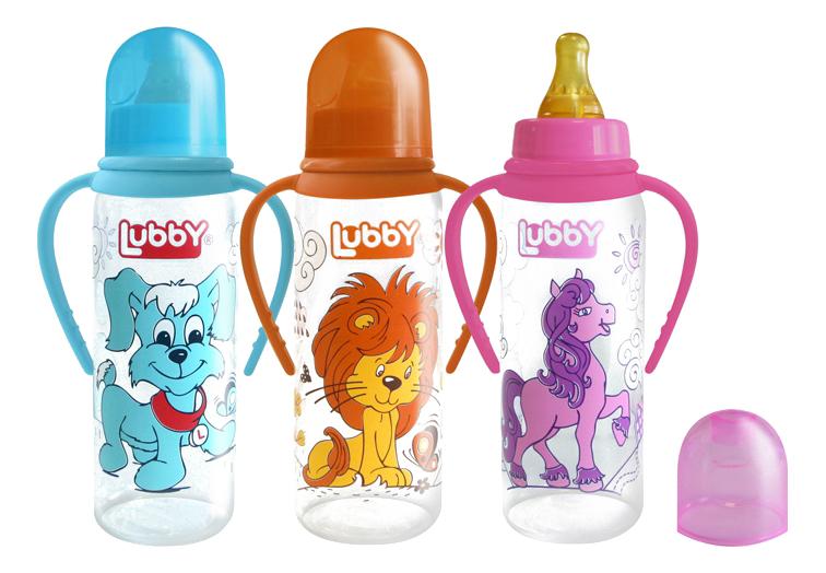 Детская бутылочка LUBBY С латексной соской 250 мл
