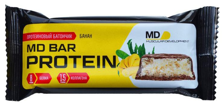 Протеиновый батончик MD Bar Protein 50 г банан
