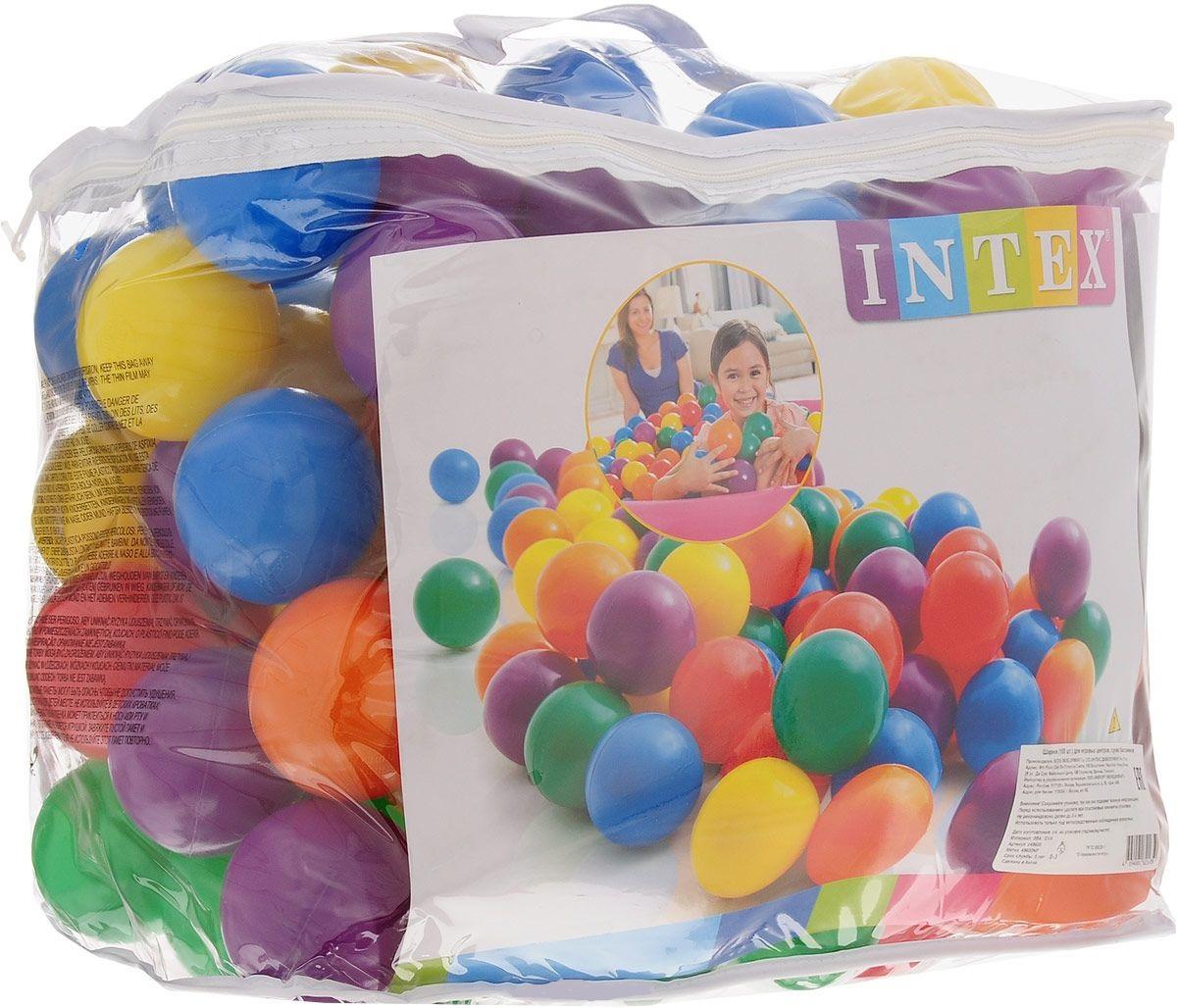 Шарики для сухого бассейна Intex в сумке