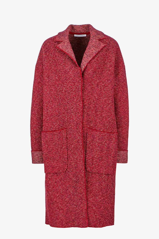 Пальто женское Cepheya красное