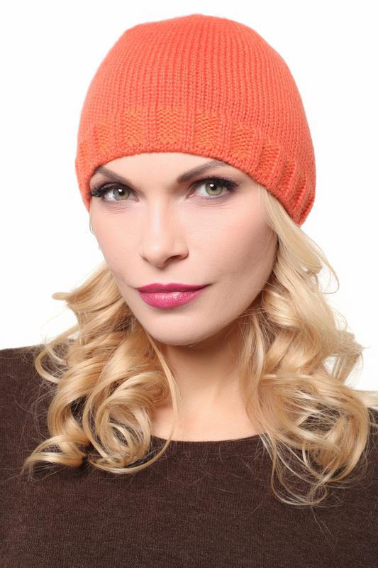 Шапка женская Lak Miss PIF 9110 оранжевая 56-58