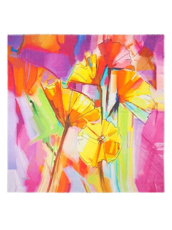 Платок женский Eleganzza VR09-8028 желтый/розовый фото