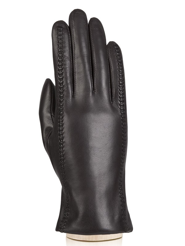 Перчатки женские Eleganzza F-HP0058 коричневые 6.5, F-HP0058