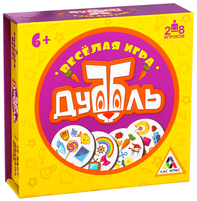 Настольная семейная игра на реакцию «Дуббль» в подарочной коробке ЛАС ИГРАС