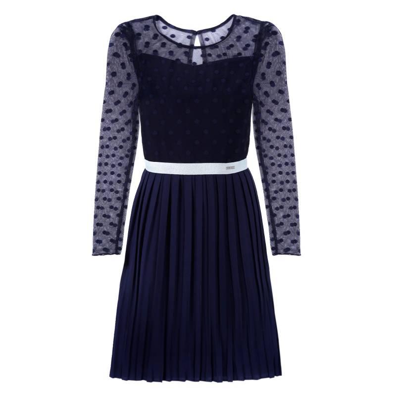 Купить Платье Дженнифер-плиссе UNONA D'ART, цв. синий, 146 р-р, Детские платья и сарафаны