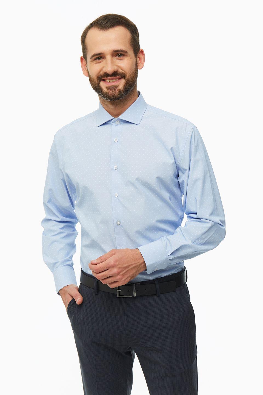 Рубашка мужская Conti Uomo 8393-32-06 синяя L