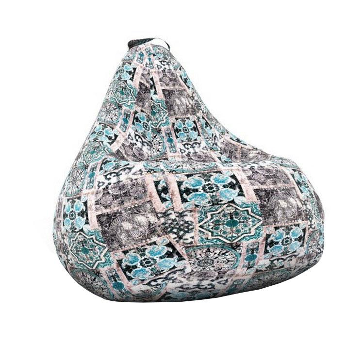 Кресло-мешок DreamBag Кресло-мешок, размер XXL, велюр, бежевый; голубой; синий фото