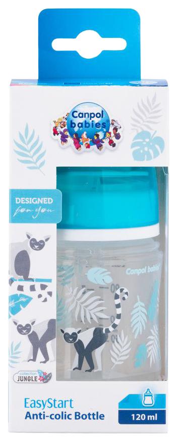 Купить Бутылочка Canpol Jungle PP EasyStart арт. 35/226 120 мл 0м+ серый, Бутылочки для кормления