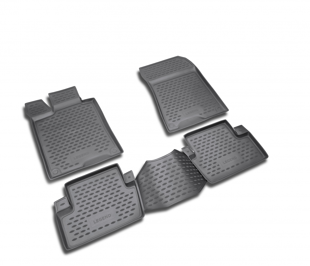 Коврики в салон Element для LEXUS LX570, 2012 5 мест, 3 шт. полиуретан,серые