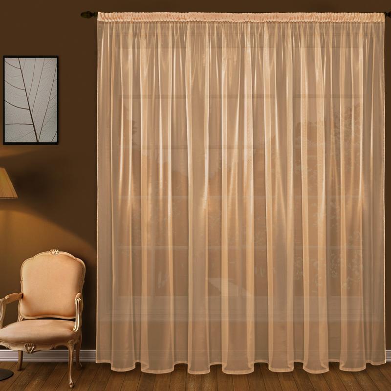 Штора Elegante Bristol вуаль, персиковый, 300x250 см, T101-3