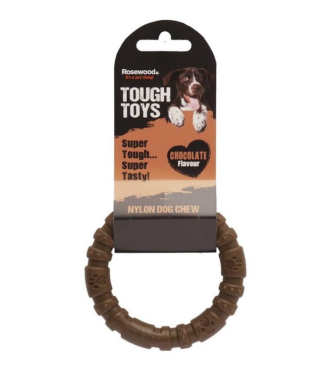 Жевательная игрушка для собак Rosewood Кольцо шоколадное, 10 см