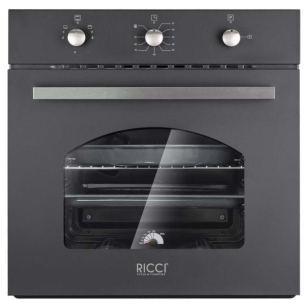 Встраиваемый газовый духовой шкаф RICCI RGO-611BL