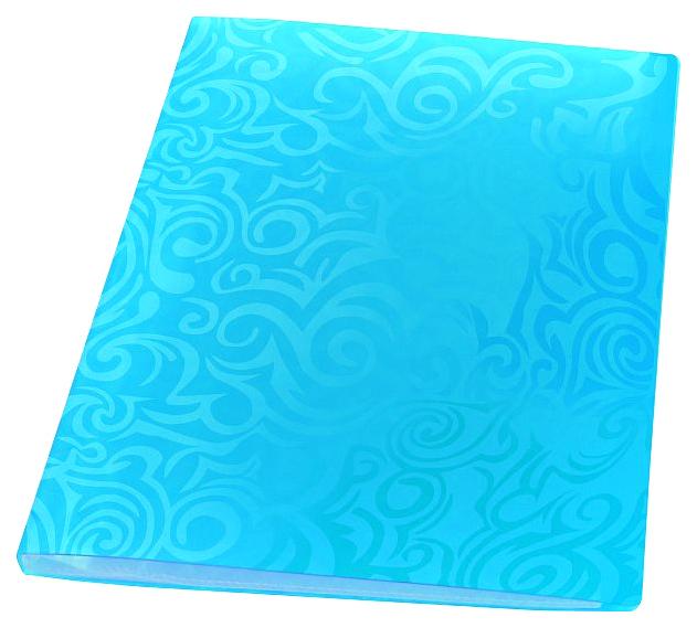 Папка с файлами Panta Plast Tai Chi, 40 файлов, плотность 700 мкр, А4 Синий