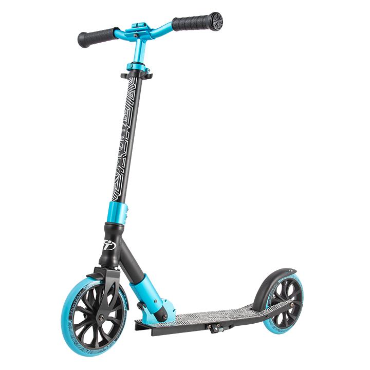 Купить Детский самокат Tech Team 210 Comfort 2020 черно-голубой, Самокаты детские двухколесные