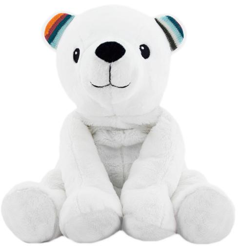 Купить Плюшевая игрушка-комфортер Zazu Полярный мишка Пол (ZA-PAUL-01),