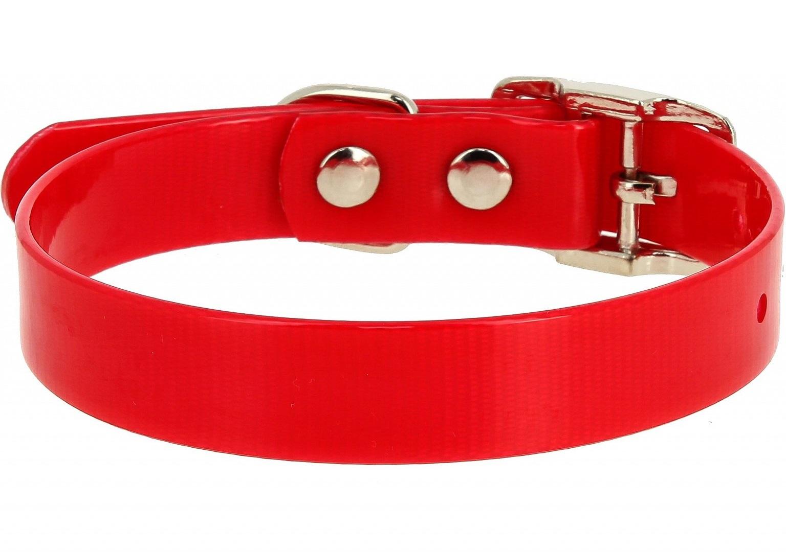 Ошейник Каскад из биотана красный для собак (25 мм (44-56,5 см), Красный) фото