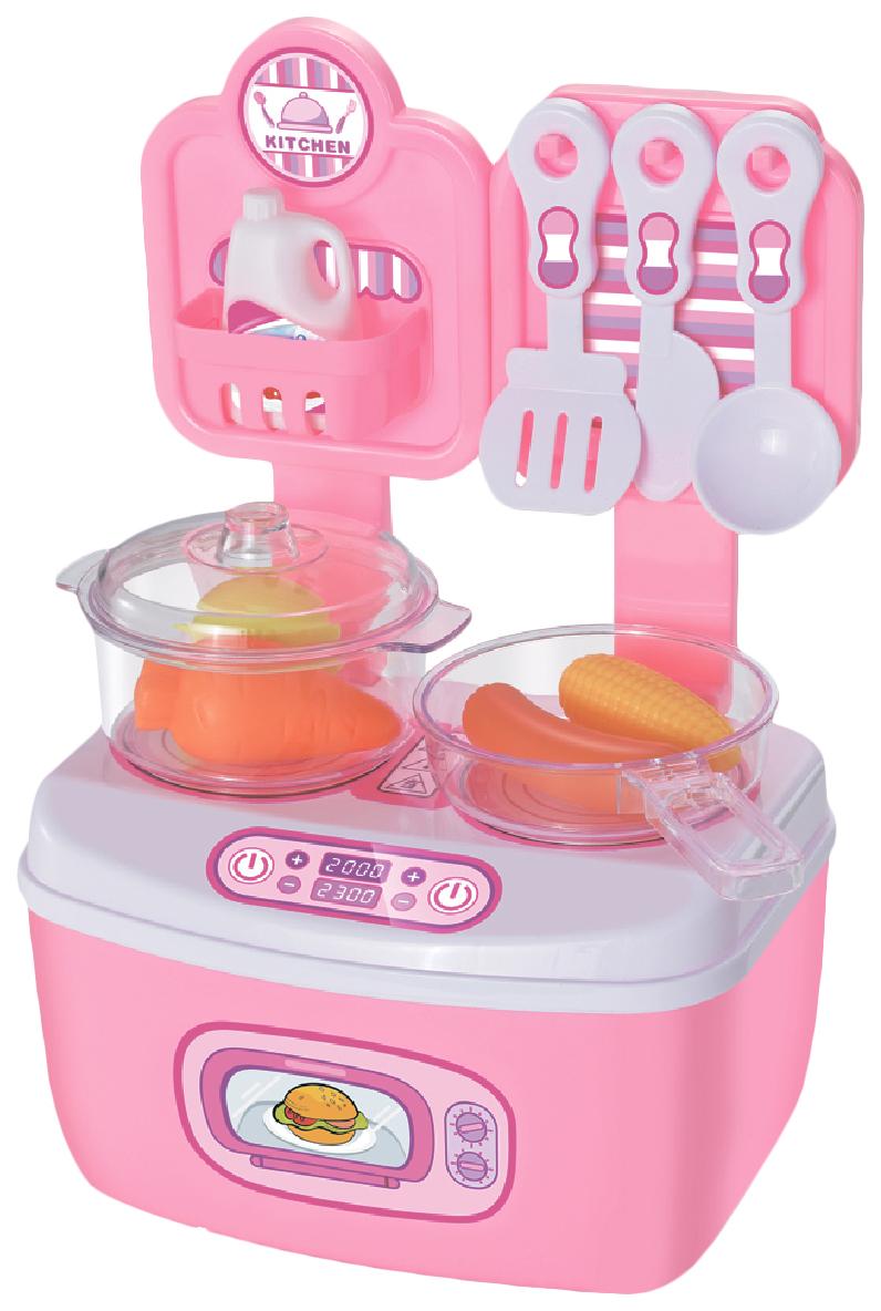 Купить Игровой набор Город Игр Большая кухня GI-6746 11 предметов, цвет розовый, Детская кухня