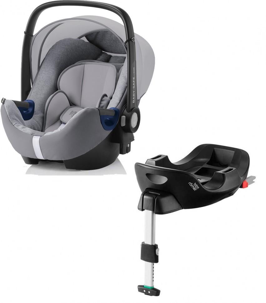 Автокресло Britax Roemer Baby-Safe i-Size Grey Marble + база FLEX группа 0+, до 13 кг