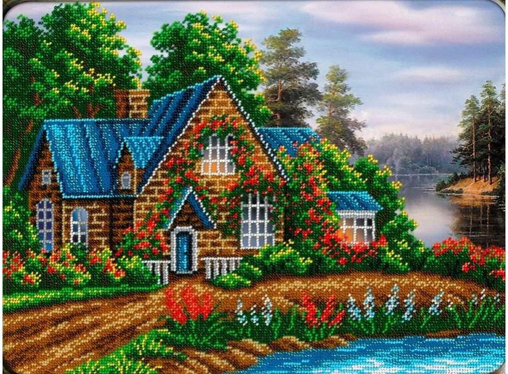 Картинки схемы вышивки крестом дома