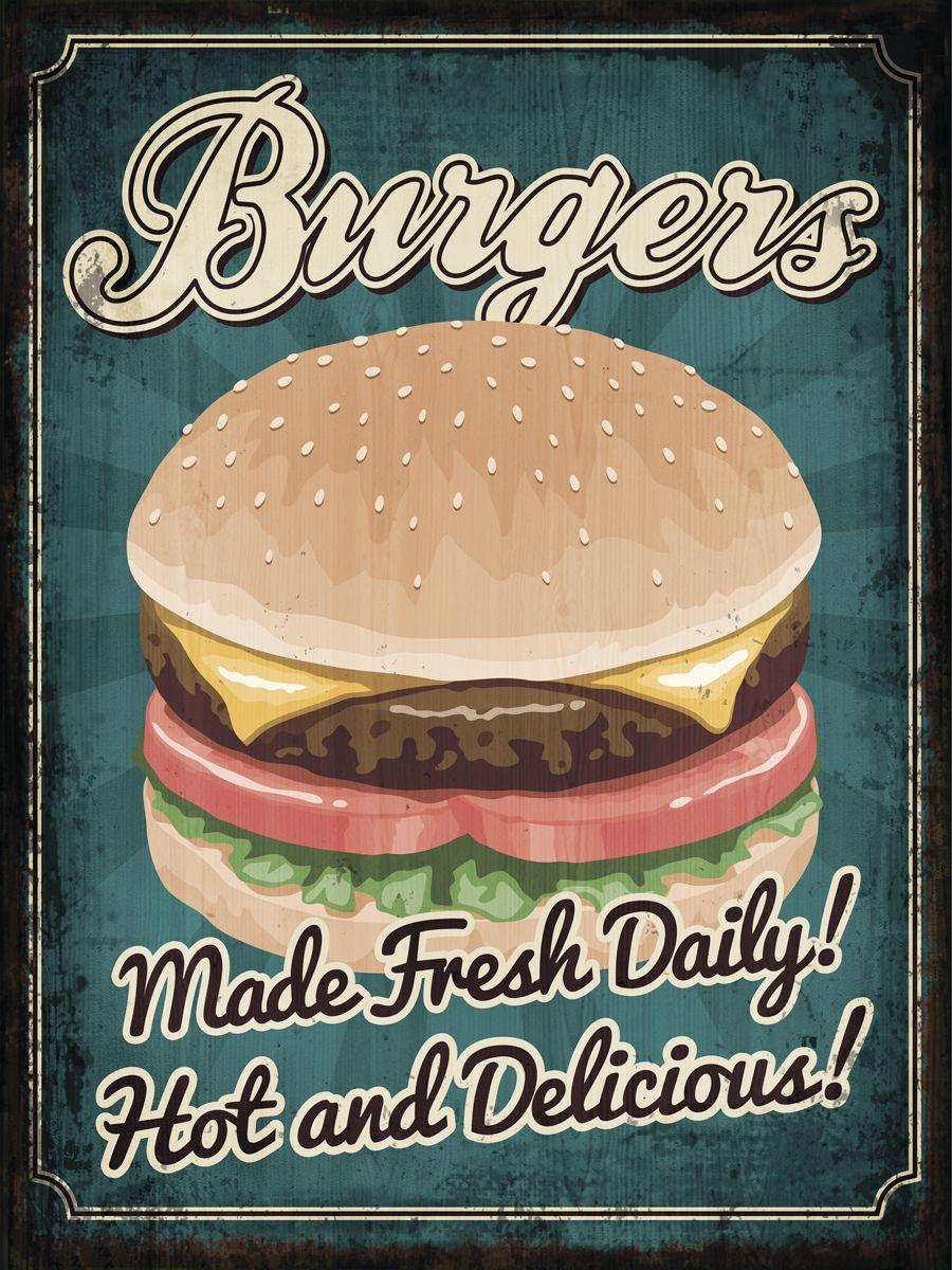 Картина на мдф 30x40 Burgers Ekoramka ME-105-101