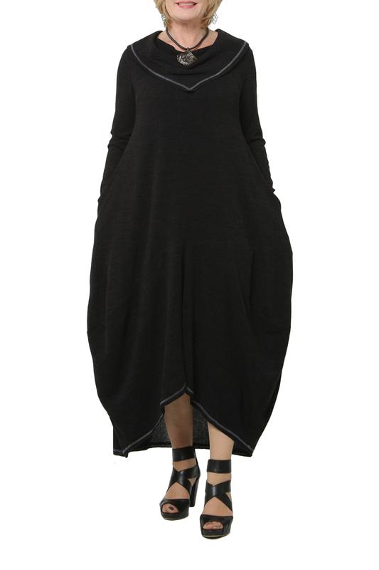 Платье женское KATA BINSKA BRET 190820 черное 52-54 EU фото
