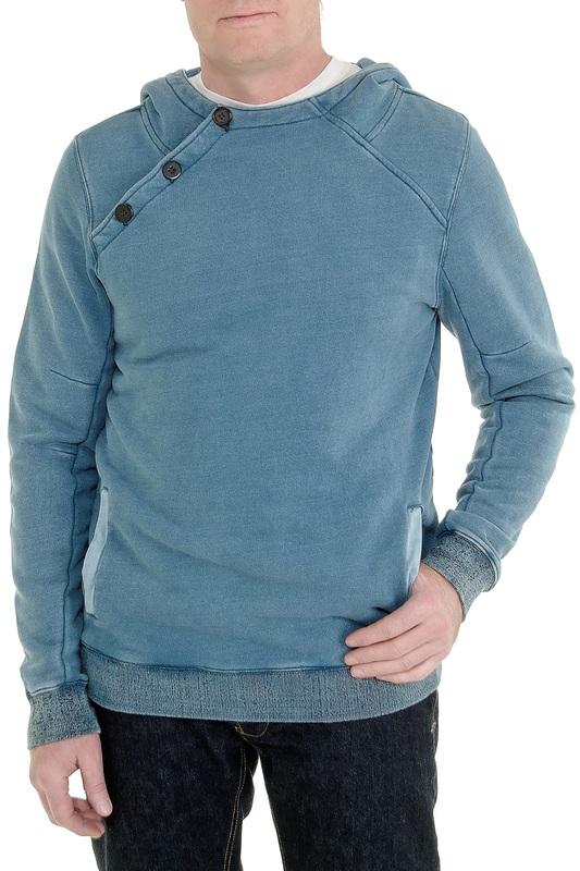 Толстовка мужская Amsterdenim AM1801570 голубая 2XL