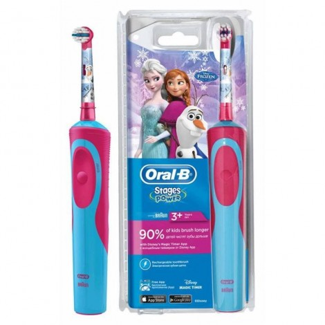 Электрическая зубная щетка Oral-B Stages Power D12.513.1 Frozen Холодное сердце