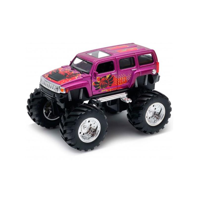 Купить Модель машины Welly 1:34-39 Hummer H3 Big Wheel Monster 47001S,