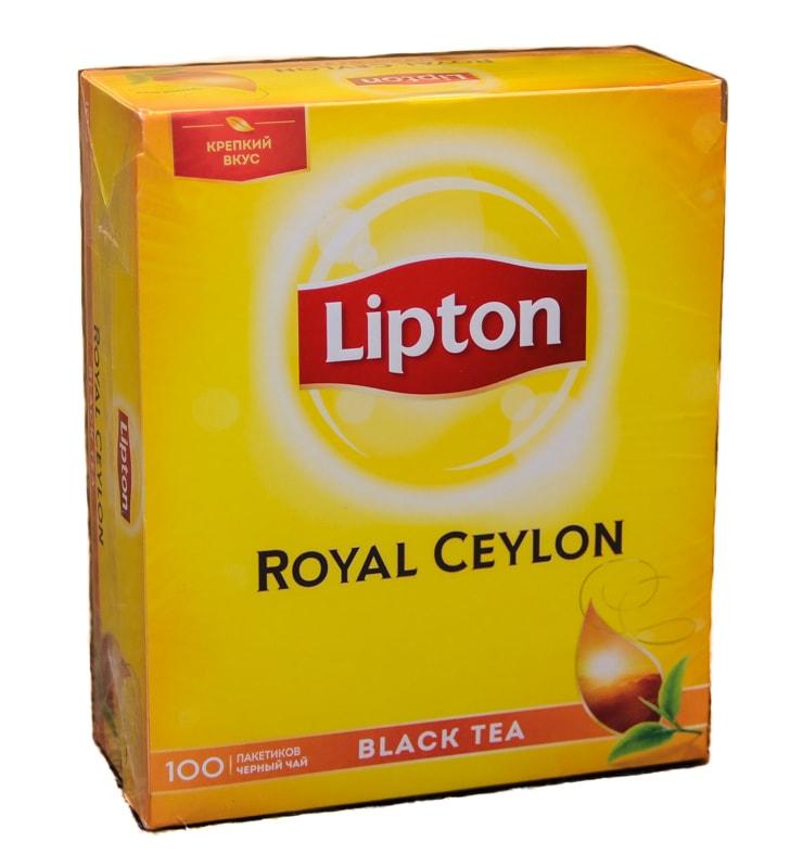 Чай Lipton royal ceylon черный байховый цейлонский 100 пакетиков фото