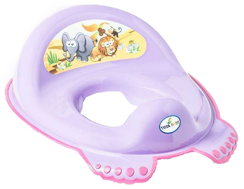 Купить Накладка на унитаз Tega Baby Сафари антискользящая Фиолетовый, Детская накладка на унитаз