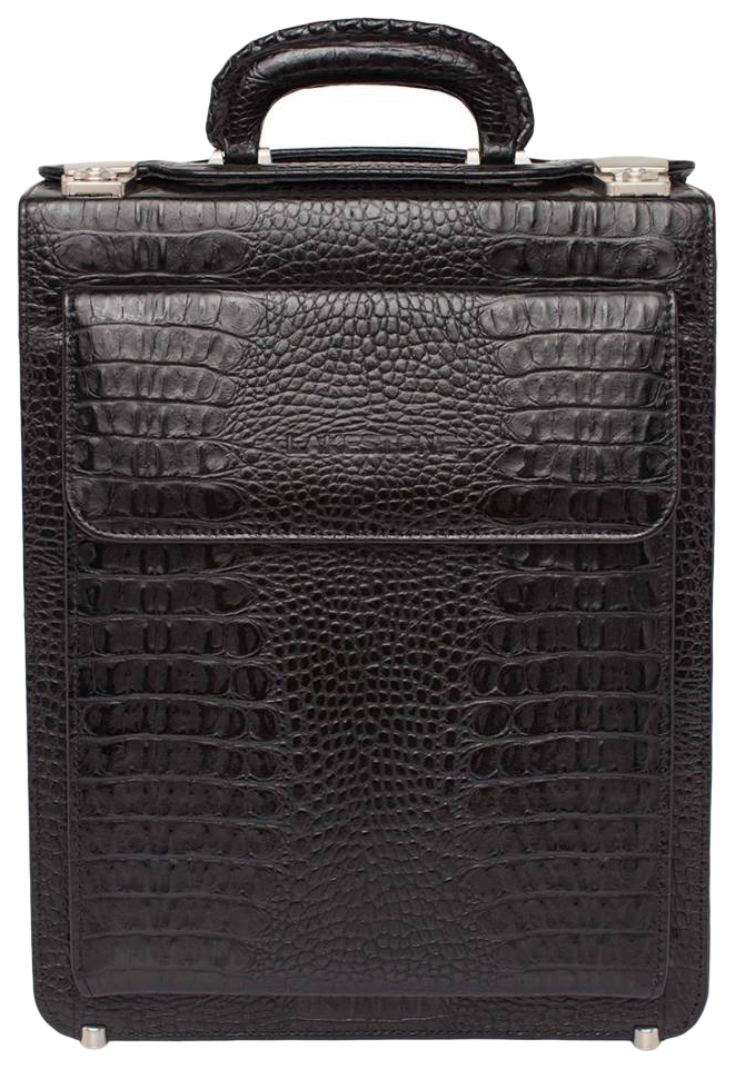 Портфель мужской кожаный Lakestone Grantson 943004/BLC черный фото